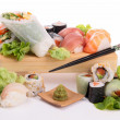 Assortment of sushi and maki — Stock Photo #19698699