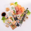 Assortment of sushi and maki — Stock Photo #19698893