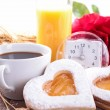 Stock Photo: Valentine breakfast