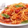 Plate of spaghetti and tomato sauce — Stock Photo #19821051