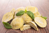 Heap of raw italia pasta — Stock Photo