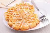 Gourmet waffle — Stock Photo