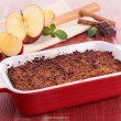 Chocolate and apple crumble — Stock Photo
