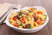 Pasta gratin with broccoli and tomato — Stock Photo