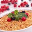 Stock Photo: Berries crumble