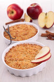 Gourmet apple crumble — Stock Photo