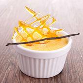 Deser creme karmel — Zdjęcie stockowe
