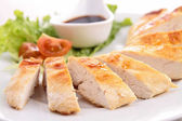 Chicken with sauce — Stock Photo