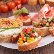 Stock Photo: Assortment of bruschetta