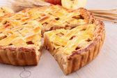Slice of apple pie — Stock Photo