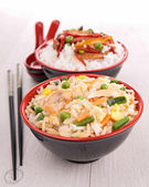 Bowl of fried rice — Stock Photo