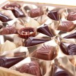 Assortment of chocolates candies — Stock Photo