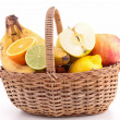 Wicker basket with fruits — Stock Photo #22127461