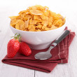 Bowl of cereal with berries fruits — Stock Photo #22186789