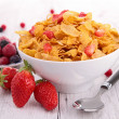 Bowl of cereal with berries fruits — Stock Photo #22186823