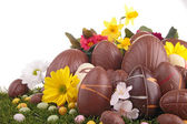 Heap of chocolate easter eggs — Stock Photo