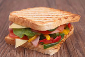 Sandwich toast — Stock Photo