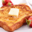 French toast with fruits — Stock Photo