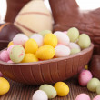Easter chocolate eggs - Stock Photo