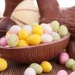 Easter chocolate eggs — Stock Photo #22332079