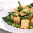 Stock Photo: Grilled tofu and vegetables
