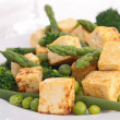 Stock Photo: Fried tofu