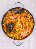 Cooked paella — Stock Photo