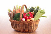 Collection of raw vegetables — Stock Photo