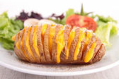 Sliced baked potato — Stock Photo