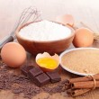 Stock Photo: Assortement of baking ingredients