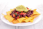 Nachos with vegetables — Stock Photo