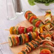 Vegetables skewer — Stock Photo
