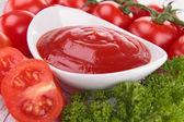 Tomatensaus, gaspacho, ketchup — Stockfoto