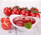 Tomato sauce, gaspacho, ketchup — Stock Photo