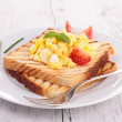 Stock Photo: Scrambled egg