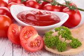 Tomatensaus, ketchup — Stockfoto