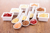 Sauce, dips, condiment — Stock Photo