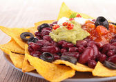 Nacho with vegetables — Stock Photo