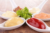 Collection of dips, sauce — Stock Photo