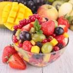 Fresh fruits salad in bowl — Stock Photo #23741797