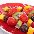 Stock Photo: Fruit skewer