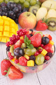 Fresh fruits salad in bowl — Stock Photo