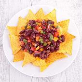 Plate of nachos — Stock Photo