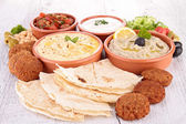 Assorted of oriental food, mezze — Stock Photo