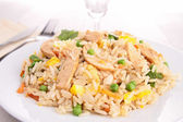 Fried rice and vegetables — Stock Photo