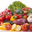 Composition of raw vegetables — Stock Photo