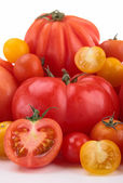 Different variety of tomatoes — Stock Photo
