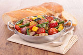 Ratatouille, cooked vegetables — Stock Photo