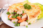 Chicken pot pie — 图库照片