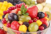 Close-up na salada de frutas — Foto Stock